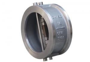 China Dual Disc Wafer Type Check Valve Butterfly API 594 ANSI 150LB For Water on sale