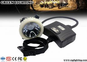 China 3.7V IP67 CREE Mining Cap Lights With Rear Warning Light Atex Certification on sale