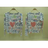 2014 Fancy V Neck Love Printed Cardigan Womens Fine Knit Sweaters