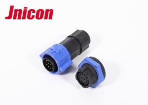 China Push Locking Waterproof Socket And Plug Connector 12 Pin IP67 Anti - Deformation on sale