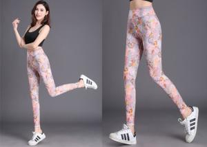China Colorful Womens Workout Tights High Waist Compression Type Customized Design on sale