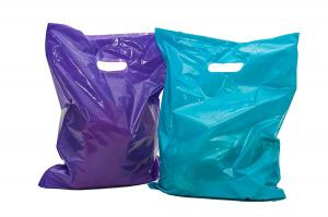 China 100 Glossy Merchandise Retail Gift Bags , LDPE Material Plastic Retail Bags on sale