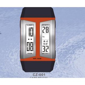 China Black Red Sporty Gents Digital Watches / Quartz Designer Wristwatch For Male on sale