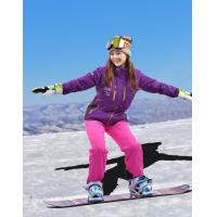 China OEM New outdoor  arrival womens snow jacket, womens hot ski suits 2017,High quality womens ski clothing blue&orange on sale