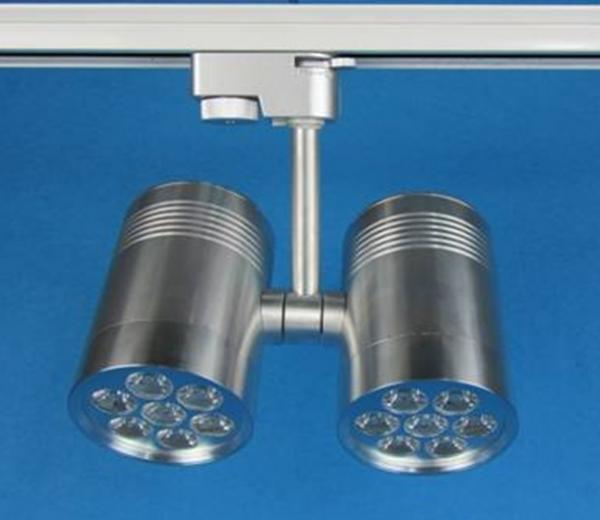 14w Double Head Bridgelux Epistar Aluminum Led Track Light Fixtures For Museum School Images