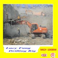 China Hot Multifunction MGY-100BW Excavator Mounted soil and rock anchor DTH drilling rig
