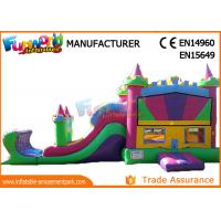 0.55mm PVC Tarpaulin Combo Castle Bouncer Castle For Kids Inflatable Toddler Playground