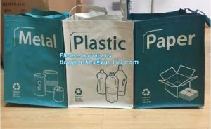 China Factory custom recyclable folding laminated pp non woven bag shopping with heat transfer printing non woven fabric carry on sale