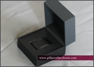 China Custom matt / glossy UV Black plastic Wrist Watch Gift Box and Jewellry packaging mens watch boxes on sale