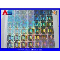 China Custom Holographic Stickers , Anti Fake 3D Hologram Stickers Printing on sale