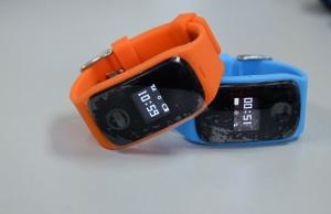 China Orange Mini Wrist Watch GPS Tracker PC Online / Platform / SMS Inquiry 4 Way Tracking on sale
