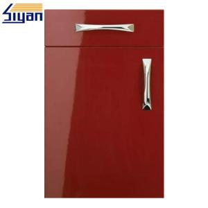 China Fashional Red Gloss Kitchen Cabinet Doors , High Gloss Kitchen Doors on sale