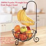 Soporte popular de la cesta de fruta del hierro labrado 200504