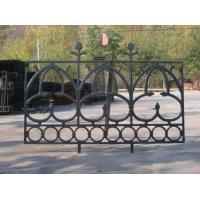 China Portland Cast Iron Fence Panels Powder Coated Steel Prefab Metal Fence Panels on sale