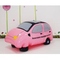65 * 30CM Inflatable Toys with Logo customized , PVC pink car toys for kids play