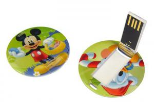 China Plastic Round Credit Card USB Memory Stick 3 Years Warranty Period on sale