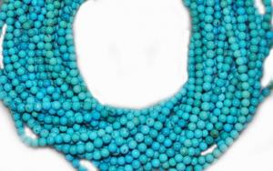 China 2mm to 22mm natural turquoise round beads 16 inch turquoise jewelry on sale