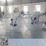 China Clear PVC Tarpaulin White Inflatable Bumper Ball For Water Fun OEM / ODM wholesale
