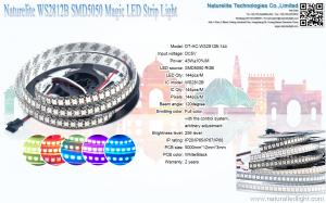 China WS2812B SMD5050 Led Flexible Strip Lights Magic Color LED Strip Light For Club , KTV on sale
