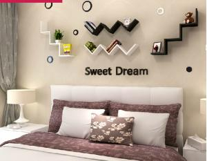 China English letters decoration Personalized Wooden Name Plaques Word Letters 3D Wall sticker Door Art Wedding Photo Props on sale