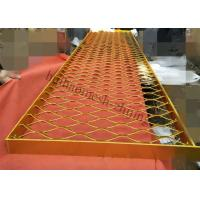China Aluminum Metal Screen Facade, Expanded Metal Mesh For Cladding Window Divider on sale