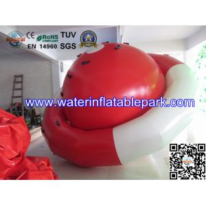 China 0.9mm PVC Tarpaulin Inflatable Peg-top / Red White Inflatable Saturn Rocker on sale