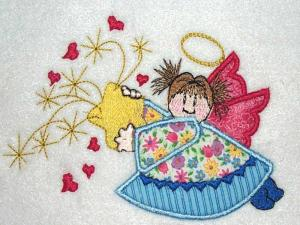 China Appliques for most of machine embroidery designs and home embroidery springAngel on sale