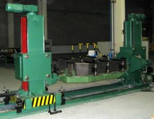 China DWP8 Double column positioner / welding positions with working table Synchronous Lifting on sale