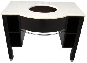 China Wooden Freestanding Vanity Cabinet , Wooden Vanity Units For Bathrooms on sale