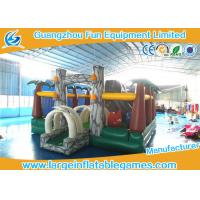 Jungle inflatable bouncer and funland for kids ,  inflatable amusement park with bouncer slide