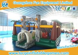 China Jungle inflatable bouncer and funland for kids ,  inflatable amusement park with bouncer slide on sale