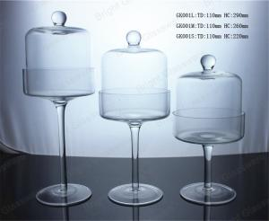 China Commercial mini cake decorating tools glass dome cake cover stand on sale