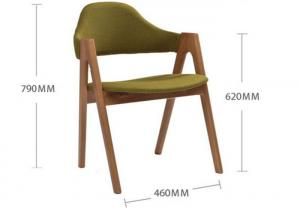 China Small Fabric Light Oak Kitchen Chairs , Restaurant Oak Upholstered Dining Chairs on sale