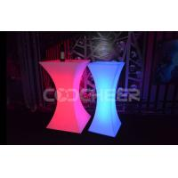 Anti - UV brightness Polyethylene plastic led lamp table for event and party