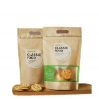 China Zipper lock Kraft paper Stand up Dry Food bag with Window to packing dried fruit on sale