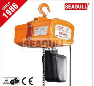 China CE Approved Electric Chain Hoist With Hook , High Efficiency Construction Lifting Equipment on sale