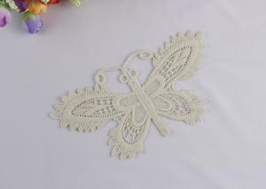 China Chemical Embroidery Lace Applique Patches For Dresses Butterfly Shaped on sale