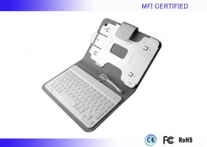 China Portable MFI iPad Apple Keyboard Leather Case Wired 8 Pin Connector on sale