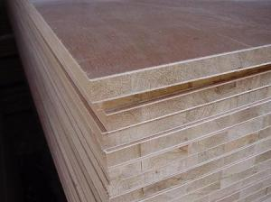 China Large Pine Core Wood Laminated Block Board For Making Long Book Shelves on sale
