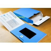 "Hard paper 4.3"" Video Brochure /  video greeting card Flip Book"