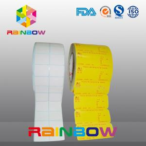 China No Print White / Colorful Blank Paper Roll Plain Self Adhesive Label With Custom Size on sale