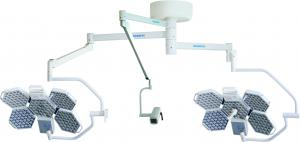 China 160000 LUX Ceiling Mounted LED Surgical Lights Double Head With Sony Arm Camera on sale