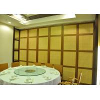 Temporary wall partitions Hotel Aluminum Sliding Doors  For Room Dividers