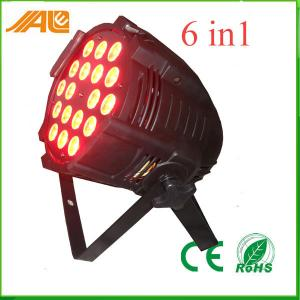 China 18pcs 15w Rgbwa Uv 6in1 Stage Spot Light For Entertainment Events on sale
