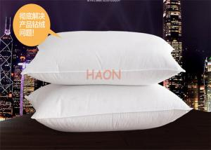 China Soft  Hotel Comfort Pillows 233T Down Proof Fabric Rectangle 1200g / pcs on sale
