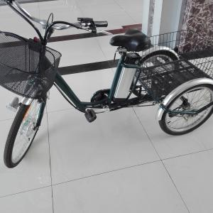 China 36V Intelligent brushless 3 Wheel Electric Bike big tire motorized adult tricycle on sale