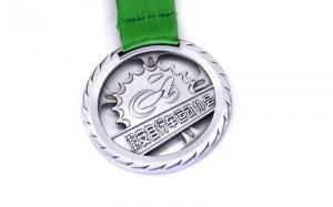 China Enamel Marathon Metal Award Medals Injection Logo Pantone Colors Printing on sale