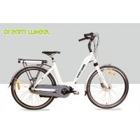 White 36V 250W Electric Lady City Bike 700C Aluminum Frame Middle Motor
