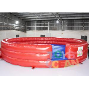 China Hot Inflatable Interactive Games Bounce Mat Mechanical Rodeo Bull Matress on sale