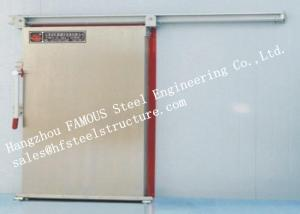 China Automatic Insulated Industrial Heavy Metal Sliding Door For Cold Room Storage on sale